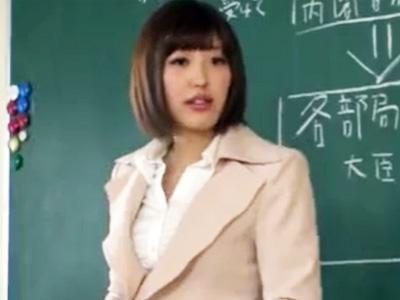 生徒にエッチな指導がバレてしまい脅迫され教頭にレイプされた女教師