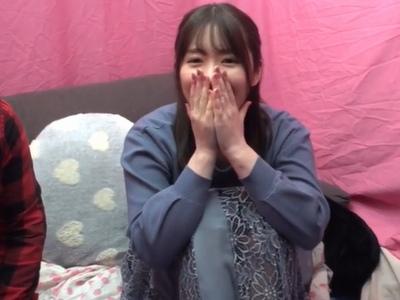 「キスですね♥」関西の素人さんがキス指南→モテナイくんを優しく逝かせてくれる美女