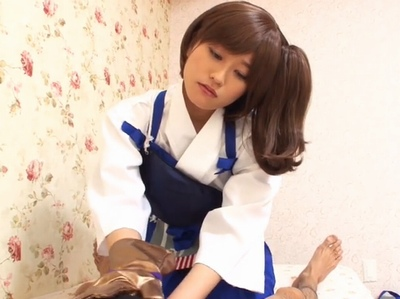 「なんか大きくなってきてる…」弓道コスでザーメン抜きとる美少女と淫語で主観パコ