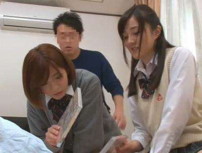 「痴漢とか…気持ちわる~」教え子JKが教師宅を物色→AV鑑賞次いでに3Pハーレムw