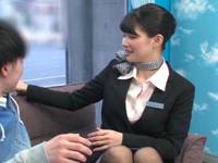 「本当に童貞なんですか?w」フライト直後の美人CAがMM号で童貞の筆おろしをお手伝い!