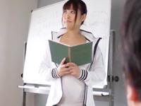 保健教師のプリケツ実習生が正しい性教育と称して自らマンコ提供w