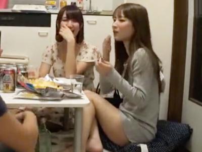 終電を逃した素人娘2人組をナンパ→自宅に連れ込みハメた一部始終が流出!