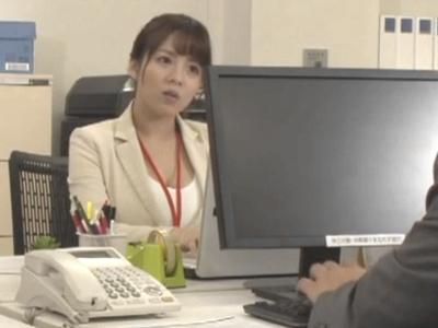 ムチムチの巨乳OLをオフィスで無理やり中出しレイプ!