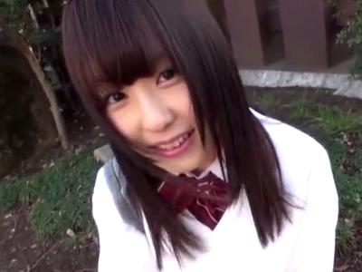 ロリついた美少女JKに円光ハメ撮り→大人ザーメンたっぷり中出し!
