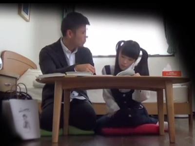 「先生…やめてぇ!」童顔JKのロリマンコにザーメン中出しする鬼畜教師