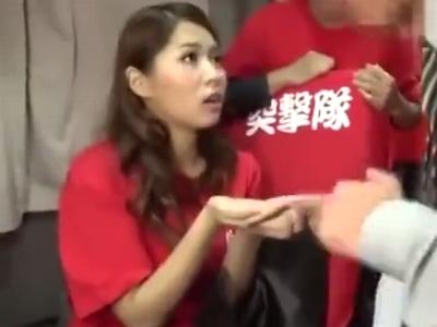 スタイル抜群娘・通野未帆ちゃんの凄ワザ我慢出来たら生中出しセックス!