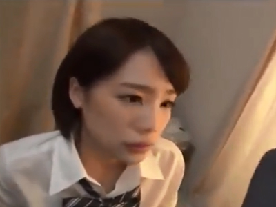 ショトカの色白美少女JKがデカマラとの本気ファックでマジイキ披露
