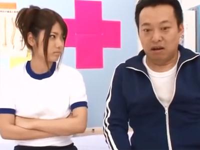 保健室で寝ているところを鬼畜教諭に襲われて顔射ハメされてしまう美少女JK