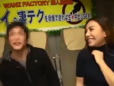 松本メイが素人男性を逆ナンパして凄テク攻め→イカセられず生中出し展開