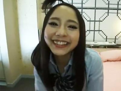 笑顔が可愛い円光ロリギャルJK娘をガチハメして大人ザーメン大量ぶっかけ