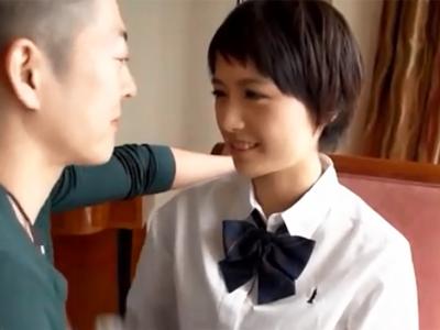 ショトカの美少女JKが優しい愛撫に思わず本気汁垂らしてしまい→激ピスハメでマジイキ