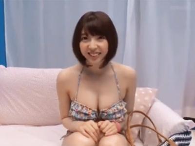 素人の巨乳美女が敏感な乳首をクリクリされて発情→本気ピスハメ開始