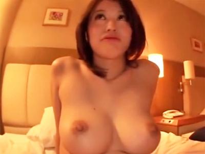 「もっと奥までッ!」おチンポ好きな巨乳素人とホテルで中出し性交w