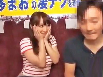 倉多まおが一般男性を手コキ&フェラで絶頂快楽へと導く!