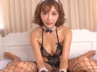 明日花キララちゃんのローションチンポ奉仕でザーメンダダ漏れw